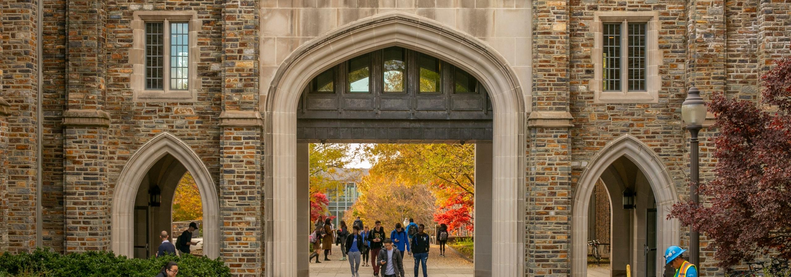 Duke University campus in autumn